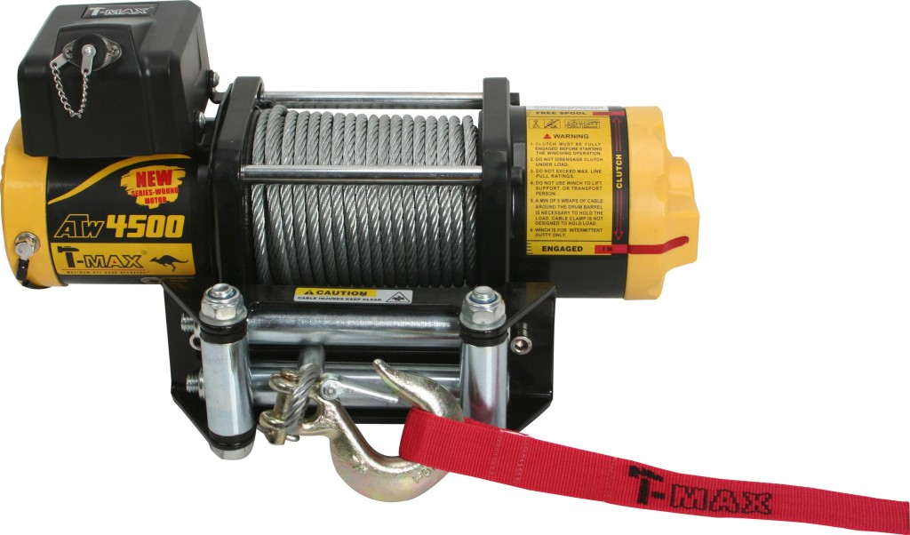 T-Max winches ATW 4500 ATW4500 with Cable Rope
