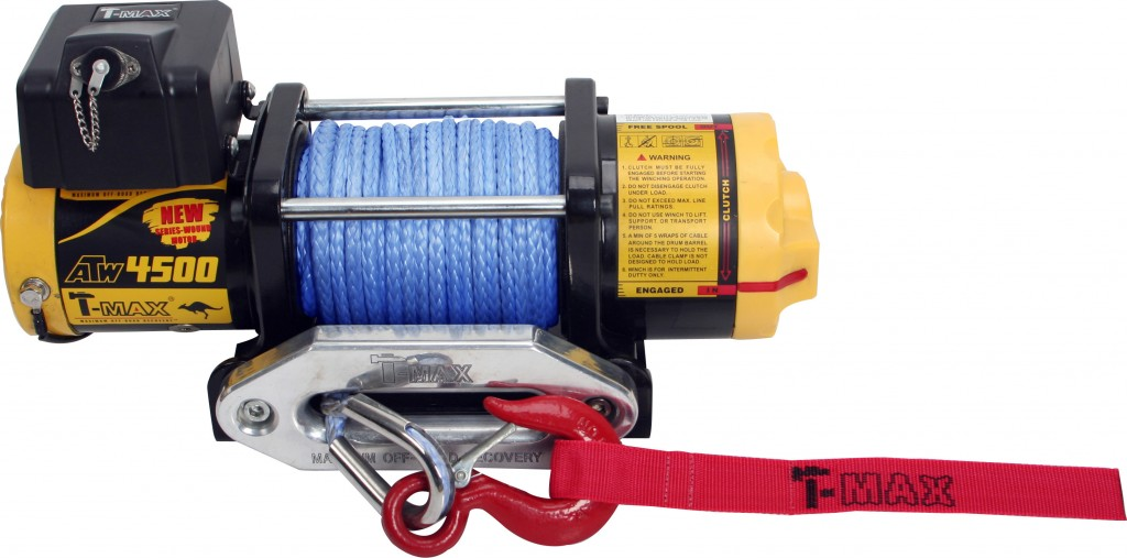 T-max Winches max-ATW4500 with Synthetic Rope